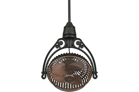 "Fanimation FPH210AC-FPH81BL 19"" Old Havana Ceiling Mount Single Head Fan in Antique Copper"