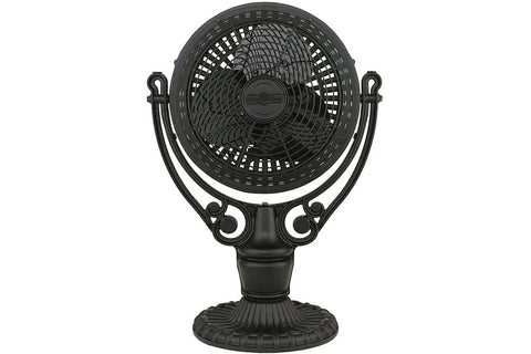 "Fanimation FPH210BL-FPH41BL 19"" Old Havana Desk Mount Table Top Fan in Black"