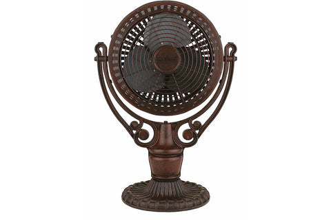 "Fanimation FPH210RS-FPH41RS 19"" Old Havana Desk Mount Table Top Fan in Rust"