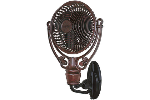 "Fanimation FPH210RS-FPH61BL 19"" Old Havana Wall Mount Wall Mount Fan in Rust"