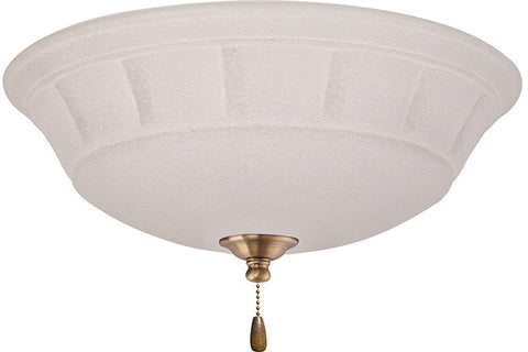 Emerson LK141AB Antique Brass Grande White Mist Light Fixture
