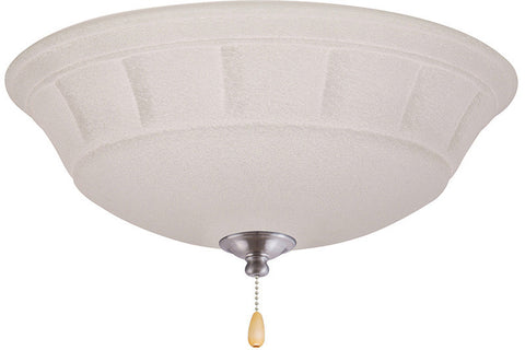 Emerson LK141BS Brushed Steel Grande White Mist Light Fixture
