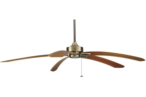 "Fanimation MA7500AB-B6000TK 80"" Windpointe Ceiling Fan in Antique Brass"