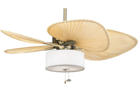 "Fanimation MA7500AB-ISP1-LK113WH 52"" Windpointe Ceiling Fan in Antique Brass"