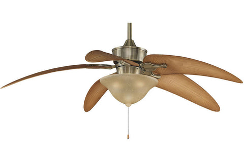 "Fanimation MAD3250AB-BPW6090DNA-LK260 52"" Islander Ceiling Fan in Antique Brass"