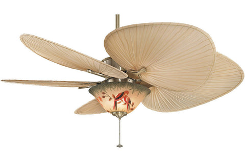 "Fanimation MAD3250AB-ISP1-F423AB-G439 52"" Islander Ceiling Fan in Antique Brass"