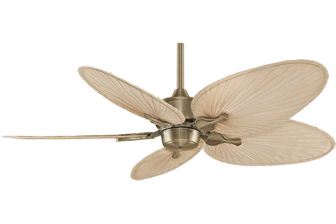 "Fanimation MAD3250AB-ISP4 52"" Islander Ceiling Fan in Antique Brass"