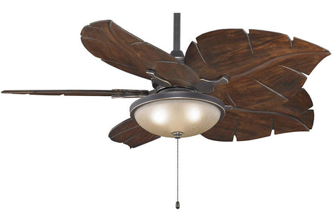 "Fanimation MAD3250BA-B5280WA-LK114BA 52"" Islander Ceiling Fan in Bronze Accent"