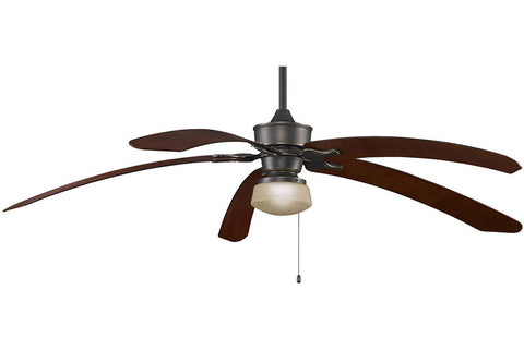 "Fanimation MAD3250BA-B6000MH-LKLP112ABA 80"" Islander Ceiling Fan in Bronze Accent"