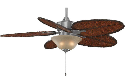 "Fanimation MAD3250PW-ISD4A-F423PW-G460LA 52"" Islander Ceiling Fan in Pewter"