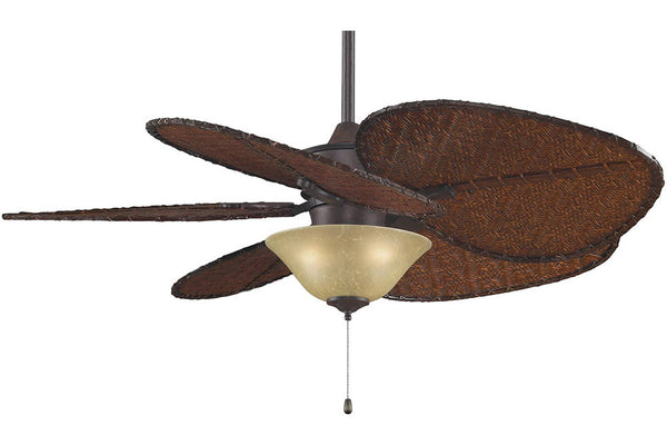 "Fanimation MAD3250RS-ISD1A-F423RS-G450 52"" Islander Ceiling Fan in Rust"