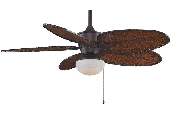 "Fanimation MAD3250RS-ISD4A-LKLP101RS 52"" Islander Ceiling Fan in Rust"