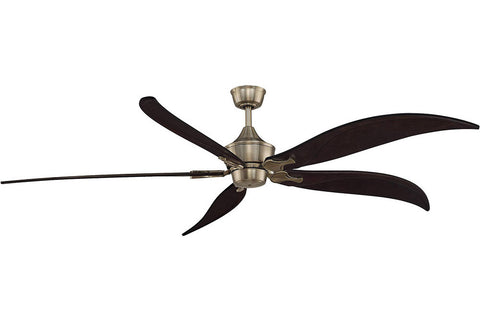 "Fanimation MAD3252AB-B6840DWA 80"" The Big Island Ceiling Fan in Antique Brass"