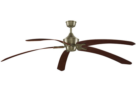 "Fanimation MAD3252AB-BPW6000TK 80"" The Big Island Ceiling Fan in Antique Brass"