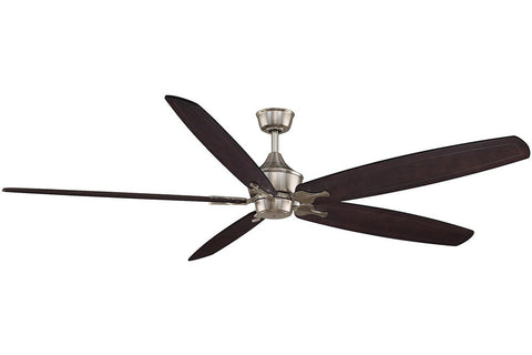 "Fanimation MAD3252BN-B6800DWA 80"" The Big Island Ceiling Fan in Brushed Nickel"