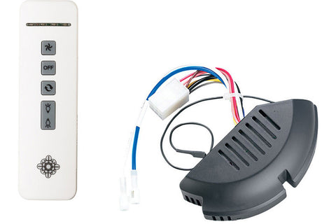 Monte Carlo MCRC1RRZW Rubberized White Remote Control and Receiver Kit with Rubberized WHITE receiver hub