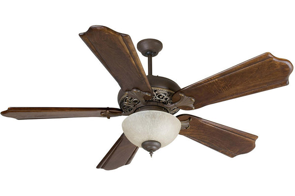 "Craftmade MI52AGVM 56"" Mia Ceiling Fan in Aged Bronze with Vintage Madera Accents"