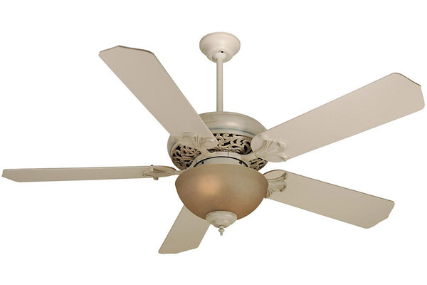 "Craftmade MI52AWD 52"" Mia Ceiling Fan in Antique White Distressed"