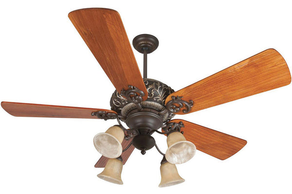 "Craftmade OA52AGVM 54"" Ophelia Ceiling Fan in Aged Bronze with Vintage Madera Accents"