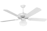 "Craftmade OPXL52W 52"" Patio Ceiling Fan in Gloss White"