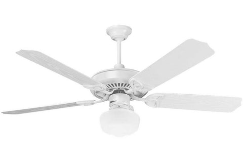 Craftmade ceiling fans tagged wet rated ceiling fans fan diego craftmade opxl52w 52 patio ceiling fan in gloss white aloadofball Images