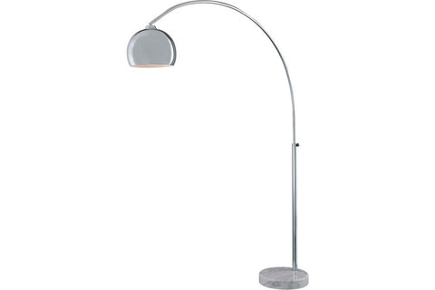 George Kovacs P053-077 Georges Reading Room Tall Arc Floor Lamp in Chrome with Chrome