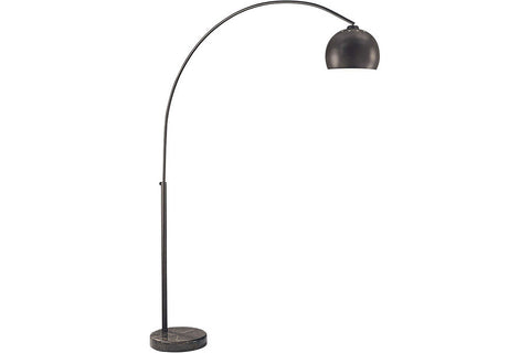 George Kovacs P053-615B Georges Reading Room Arc Floor Lamp 1LT 60 Watts Dorian Bronze in Dorian Bronze with Dorian Bronze Shade