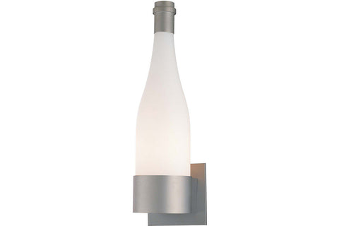 George Kovacs P070-609 Glass Wall Sconce Lighting in Silver with Pearl Mist Glass