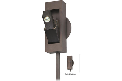George Kovacs P1053-467 Reading Lamps Swing Arm Wall Sconce Light in Sable Bronze Patina
