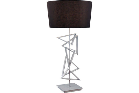 George Kovacs P10801-0 Portables Tall Table Lamp in Silver with Black Shade