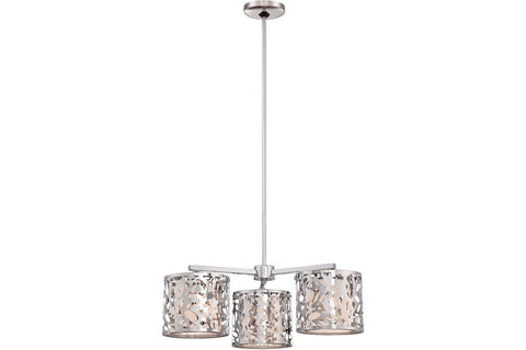 George Kovacs P7984-077 Layover Glass 1 Tier Chandelier Lighting in Chrome with Frosted White Glass