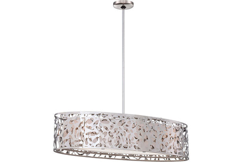 George Kovacs P7987-077 Layover Large Glass 1 Tier Chandelier Lighting in Chrome with Frosted White Glass