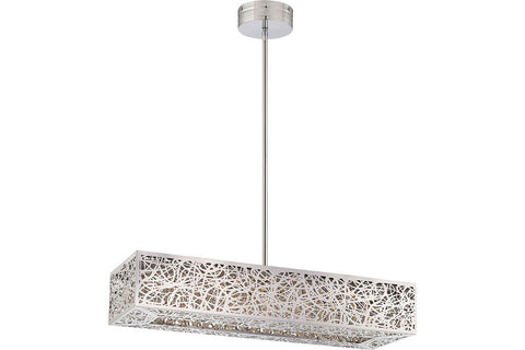 George Kovacs P984-077-L Hidden Gems Crystal 1 Tier Chandelier Lighting in Chrome with Laser-Cut Chrome Shade