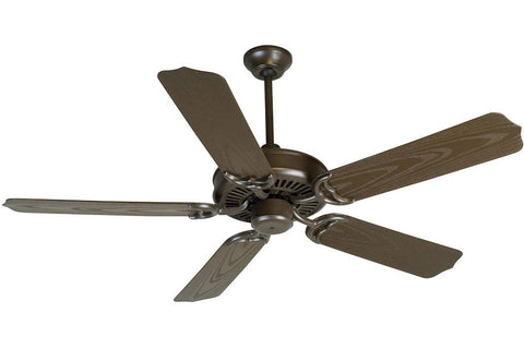 "Craftmade PF52BR 52"" Porch Ceiling Fan in Brown"