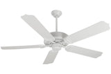 "Craftmade PF52W 52"" Porch Ceiling Fan in Gloss White"