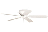 "Craftmade PFC52W 52"" Contemporary Flushmount Ceiling Fan in Gloss White"