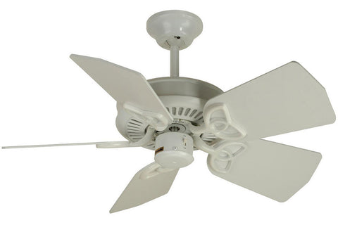 "Craftmade PI30W 30"" Piccolo Ceiling Fan in Gloss White"