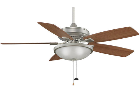 "Fanimation TF610SN-LK114WSN-LW 52"" EdgeWood Decorative Ceiling Fan in Satin Nickel"