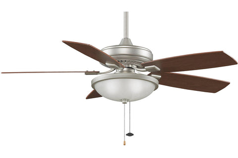 "Fanimation TF610SN-LK114WSN-WA 52"" EdgeWood Decorative Ceiling Fan in Satin Nickel"