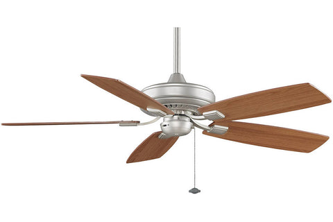 "Fanimation TF610SN-LW 52"" EdgeWood Decorative Ceiling Fan in Satin Nickel"