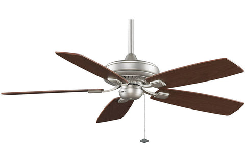 "Fanimation TF610SN-WA 52"" EdgeWood Decorative Ceiling Fan in Satin Nickel"