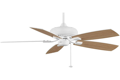 "Fanimation TF610WH-WO 52"" EdgeWood Decorative Ceiling Fan in White"