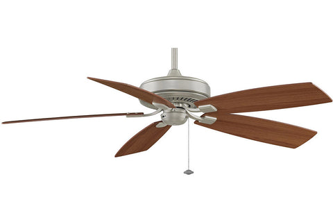 "Fanimation TF710SN-LW 60"" EdgeWood Deluxe Ceiling Fan in Satin Nickel"