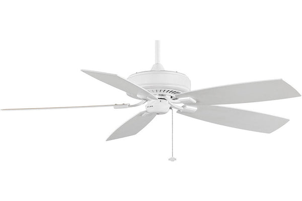 "Fanimation TF710WH-WH 60"" EdgeWood Deluxe Ceiling Fan in White"