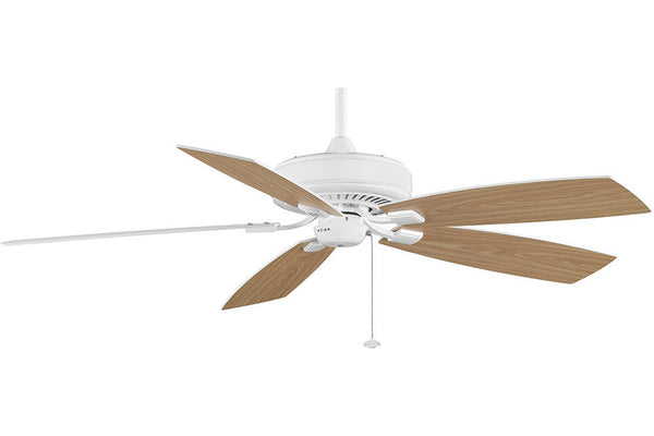 "Fanimation TF710WH-WO 60"" EdgeWood Deluxe Ceiling Fan in White"
