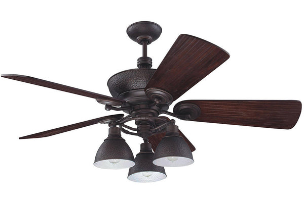"Craftmade TIM54ABZ 54"" Timarron Ceiling Fan in Aged Bronze Brushed"