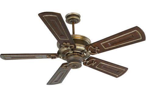 "Craftmade WD52DCVM 54"" Woodward Ceiling Fan in Dark Coffee with Vintage Madera Highlights"
