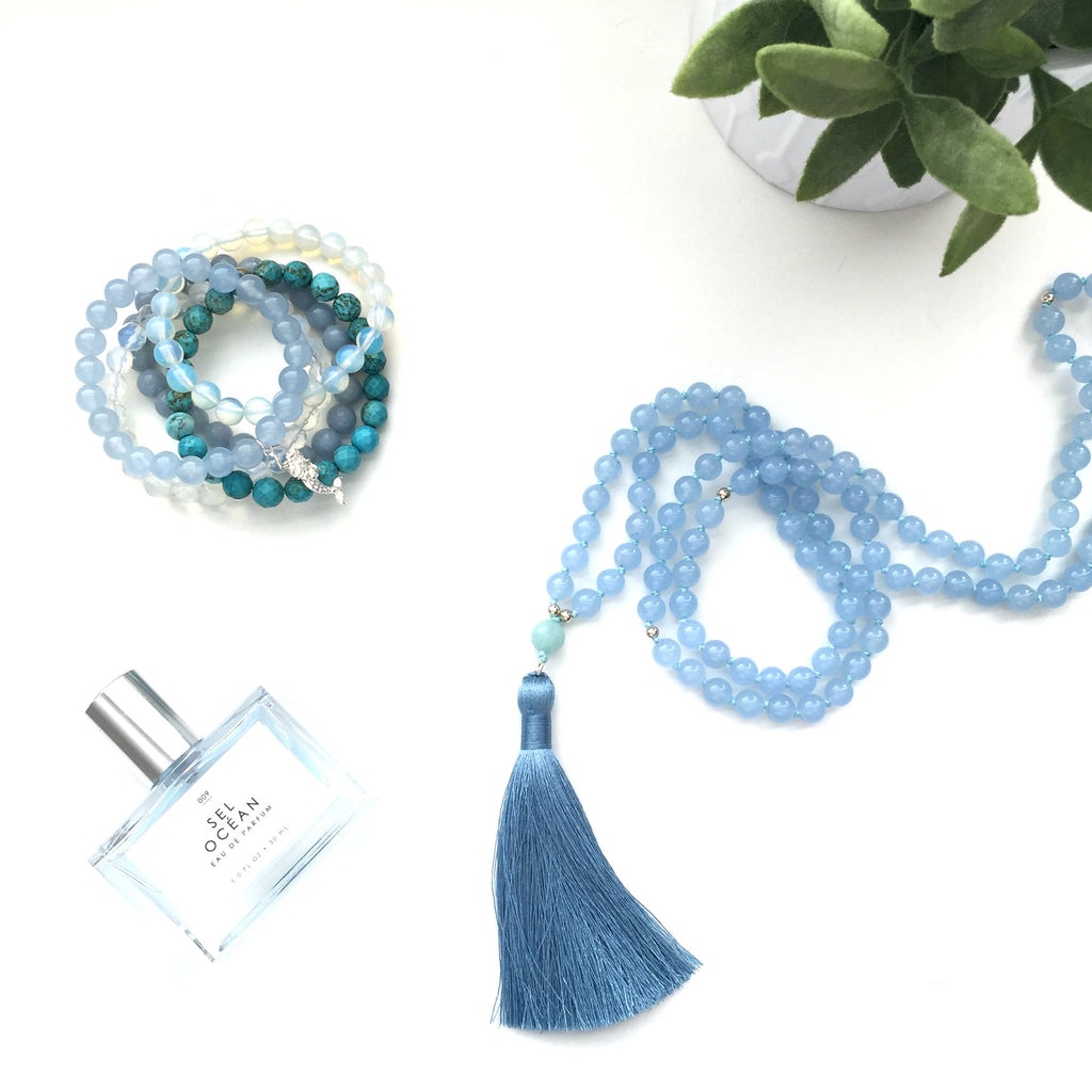 Peaceful Heart Tassel Mala