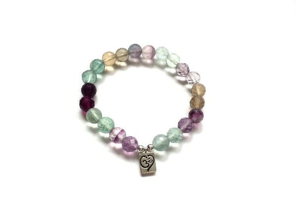 SALE | Heart Ohm Bracelet in Sterling + Fluorite