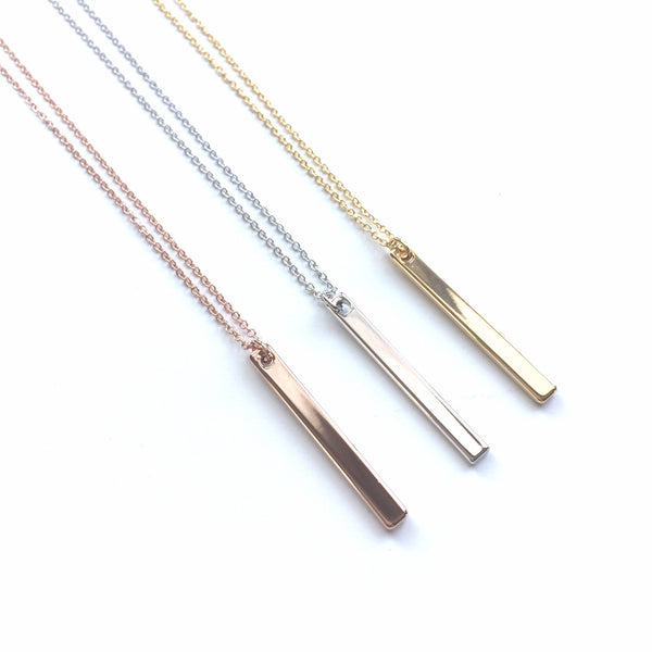 "Petite 1.25"" Bar Necklace"